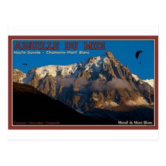 Chamonix - Paragliders Postcard
