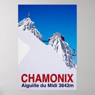 Chamonix Ski Resort France Poster