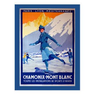Chamonix, Switzerland Vintage Travel Poster Postcard