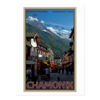 Chamonix Town Postcard