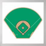 champ de diamant de base-ball poster