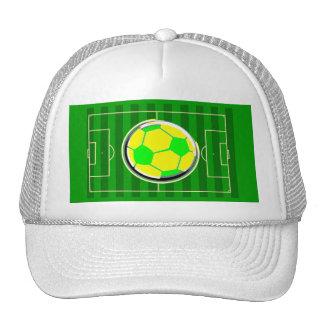 Champ de jeu de football casquette