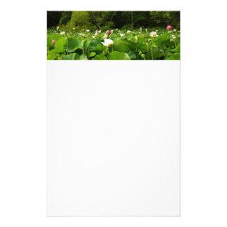 Champ des fleurs de Lotus Motifs Pour Papier À Lettre