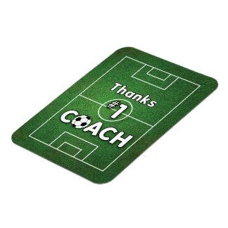 Champ d'herbe d'entraîneur du football merci magnets souples