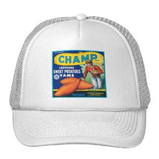 Champ Fruit Crate Label Hats