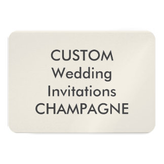 "CHAMPAGNE 110lb 5"" x 3.5"" Wedding Invitations"