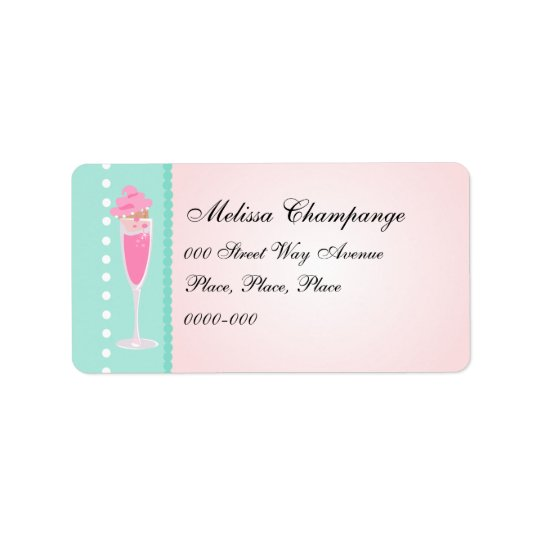 Champagne and Cupcakes Label