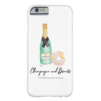 Champagne and Donuts Watercolor Case