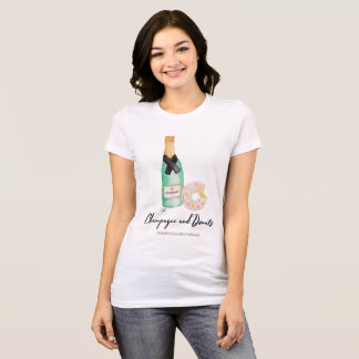 Champagne and Donuts Watercolor T T-Shirt