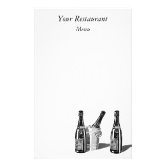 Champagne and ice bucket stationery