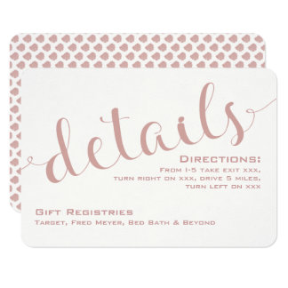 Champagne Blush Details/Reception Card