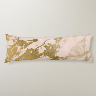 Champagne Blush Marble Pattern Body Pillow
