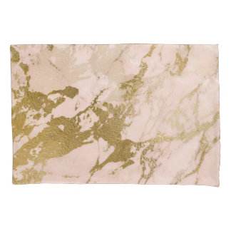Champagne Blush Marble Pillow Case