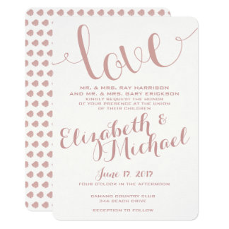 Champagne Blush Wedding Invitation