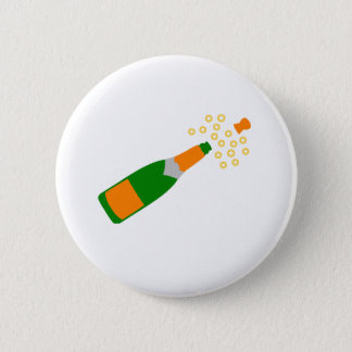 Champagne Bottle and Popping Cork 2 Inch Round Button