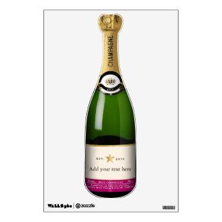 Champagne Bottle Wall Sticker