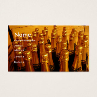 Champagne Bottles Business Card