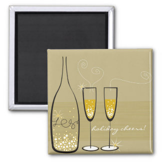 Champagne Bubbles Celebration Holiday Gift Magnet