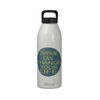 Champagne Can Change Your Life Water Bottles