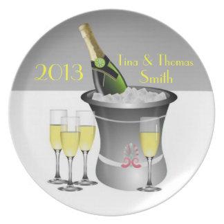 Champagne Celebration Plate