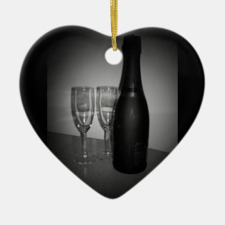 Champagne Ceramic Ornament