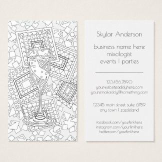 Champagne CL01 | Mixologist Bartender Events Fun Business Card