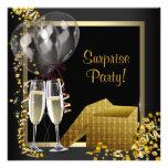 Champagne Confetti Black Gold Surprise Party