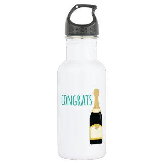 champagne congrats 18oz water bottle
