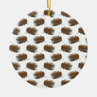 Champagne Cork Polka Dot Pattern Ornament