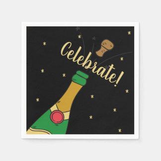 Champagne Cork Pop Special Celebrate Celebration Disposable Napkins