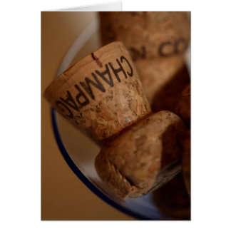 Champagne Corks Card -  You're Invited