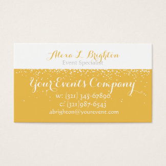 Champagne Events Business Card - Customizable