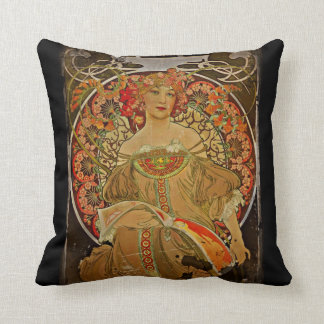 Champagne Girl 1897 Throw Pillow