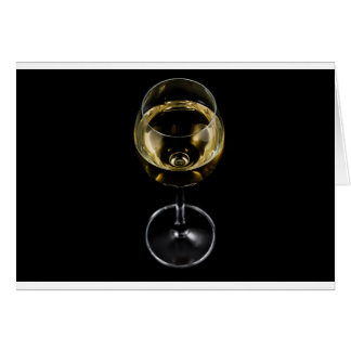 champagne glass card