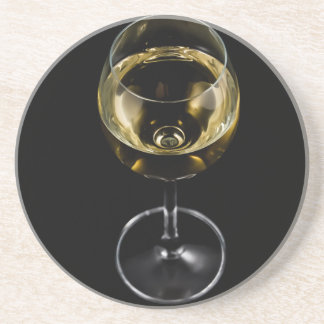 champagne glass drink coaster