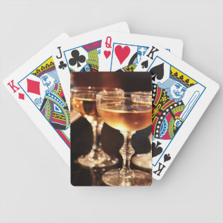 champagne glass golden toast bicycle playing cards
