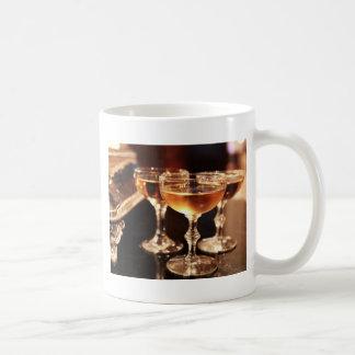 champagne glass golden toast coffee mug