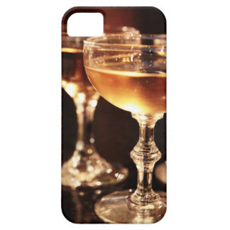 champagne glass golden toast iPhone 5 case