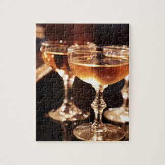 champagne glass golden toast jigsaw puzzle