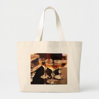 champagne glass golden toast large tote bag