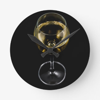 champagne glass round clock