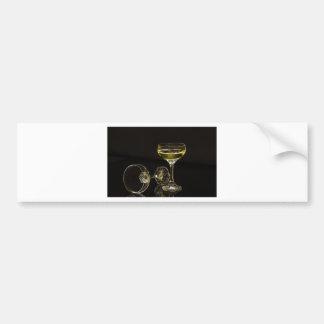 champagne glasses bumper sticker