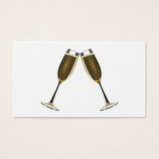 Champagne Glasses Celebration Business Card