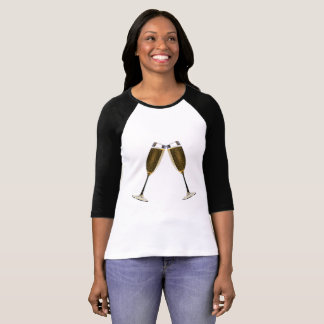 Champagne Glasses Celebration T-Shirt