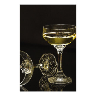 champagne glasses customized stationery