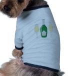 Champagne Glasses Dog T-shirt