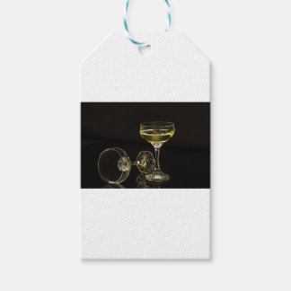 champagne glasses gift tags