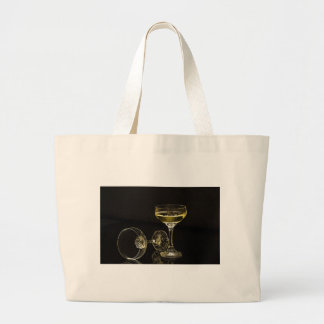 champagne glasses large tote bag