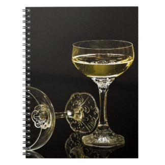 champagne glasses notebook