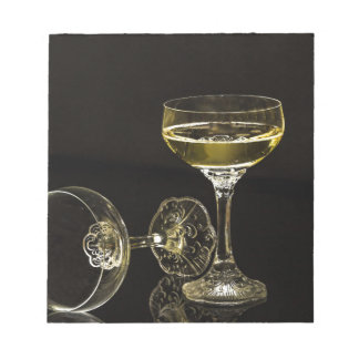 champagne glasses notepad